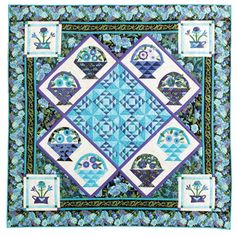 Basket quilt by Judy Crowell.  Pieced and appliqued.