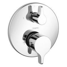 Buy the Hansgrohe 04353000 Chrome Direct. Shop for the Hansgrohe 04353000 Chrome S/E Thermostatic Valve Trim with Integrated Diverter and Volume Controls - Less Valve and save. Shower Valve, Shower Faucet, Shower Tub, Shower Fixtures, Shower Heads, Custom Shower, Faucet Handles, Shower Systems, Plumbing Fixtures