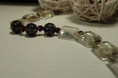 Romantic Garnet Wine & Citrine Candlelight Bracelet by ksyardbird,