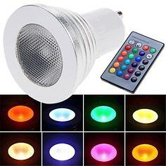 Focos LED Control Remoto E26/E27 3W 1 LED de Alta Potencia 180 LM RGB AC 85-265 V 1976496 2016 – €9.99 Led, Control, Spot Lights