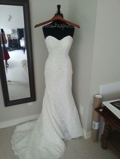 wedding dress display love this idea to have my dress displayed in my walk