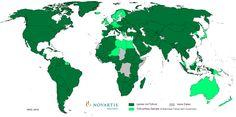 Tollwutverbreitung Weltkarte (Stand 2010)