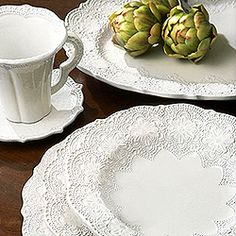 Lacey dishes... already registered for them :)