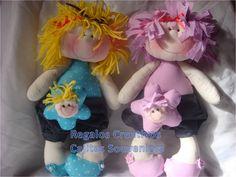 Hermosas muñecas realizadas en forma artesanal Las muñecas miden aproximadamente 36 cm