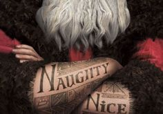 okay so i LOVE that santa is tattooed in this new movie Rise of the Guardians coming out. #serious