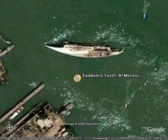 Saddam Hussein's Al Mansur, was the dictator's £25million yacht which was blasted during the Iraq War in March 2003