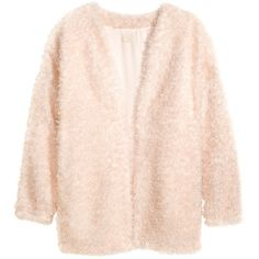 H&M Cardigan ($53) ❤ liked on Polyvore featuring tops, cardigans, outerwear, jackets, powder, pink top, 3/4 sleeve tops, pink cardigan, h&m and three quarter sleeve tops