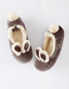 Boden Velvet Bunny Slippers
