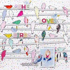She Loves Birds by @paigeevans for Kerri Bradford using @pinkpaislee Oh My Heart