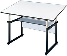 Alvin WM723XB WorkMaster Table Black Base White Top 37 12 inches x 72 inches -- Check out this great product.