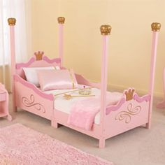 Check out our Kidkraft princess toddler bed at affordable prices from aBaby. This wooden toddler bed is perfect for your little princess. Wooden Toddler Bed, Toddler Cot, Toddler Rooms, Princess Toddler Bed, Princess Room, Pink Princess, Princess Bedrooms, Princess Castle, Disney Princess