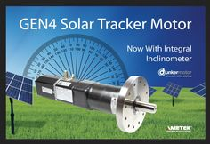 Dunkermotoren, a brand of AMETEK Precision Motion Control, has introduced a new series of tracking motors for the solar industry. The newly extended STM™ (Solar Tracker Motor) product line from Dunkermotoren now includes All-in-One brushless DC motors with optional onboard inclinometer and optional direct inclinometer input. Solar Panel Kits, Solar Panel System, Solar Panels, Renewable Energy, Solar Energy, Solar Power, Sistema Solar, Solar Tracker, Solar Roof