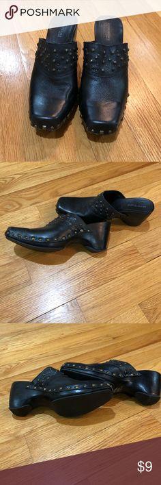 1d0e885269c3a Kenneth Cole Black Clogs Mules Size 10 Kenneth Cole new york leather clogs  mules