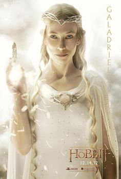 "Galadriel character poster for Peter Jackson's ""The Hobbit""."