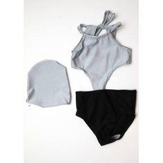 Σετ μαγιο σκουφακι Bodysuit, Tops, Women, Fashion, Onesie, Moda, Fashion Styles, Fashion Illustrations, Leotards
