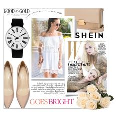 """""""SHEIN"""" by amilasahbazovic ❤ liked on Polyvore featuring Yves Saint Laurent, Rosendahl, WithChic and Celestine"""