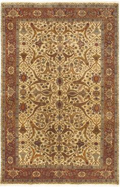 Mirzapur Hand-Knotted Cream Area Rug
