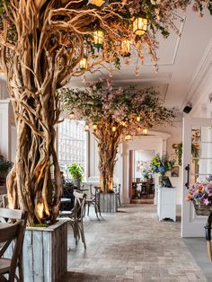 We love this restaurant in Liverpool, The Florist! Florist Shop Interior, Restaurant Interior Design, Restaurant Interiors, Deco Restaurant, Restaurant Lighting, Coffee Shop Design, Cafe Design, Liverpool Bars, Liverpool Restaurants