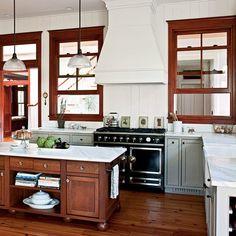 Modern Dogtrot Home: Kitchen