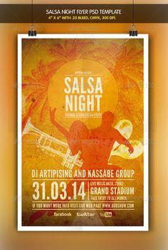 Salsa Night Flyer #GraphicRiver