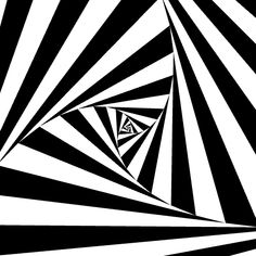 jacobjoaquin:  Recursive Triangle Spiral in Black and...