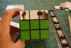 rubiks photo cube first row