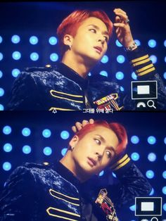 His hair looks good! I like it red :)