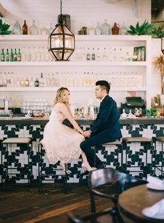 restaurant engagement photo pic | image via: 100 layer cake