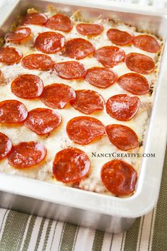 """Pepperoni Pizza Pasta Casserole--Tried: Everyone liked. Used vegetable pasta and turkey pepperoni to make it """"better"""" for us."""