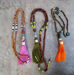 Studio Libelle - Moroccan Silk Tassel Mala Necklaces