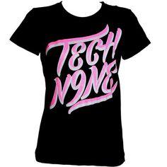 Tech N9ne - Ladies Black with Pink Script T-Shirt