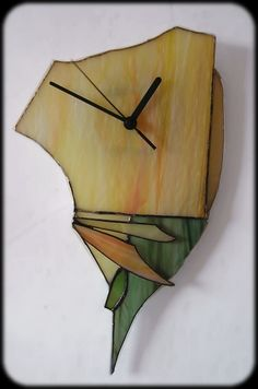 stained glass clock by gris-mauve.deviantart.com on @deviantART