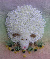 Punch needle sheep