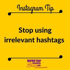 Instagram Tip: Stop using irrelevant hashtags.  I have seen this time and time again.  Stop using hashtags that have nothing to do with your posts.  A lot of times these are popular but they are so overused that you can't possibly benefit in any real way.  Think about what your post is truly about and find relevant hashtags to post with it.  You will see more consistent likes and new followers this way starting now and from this point on. Double Tap & TAG a friend if you like these valuable…