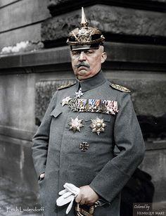 General Erich Friedrich Wilhelm Ludendorff , WWI