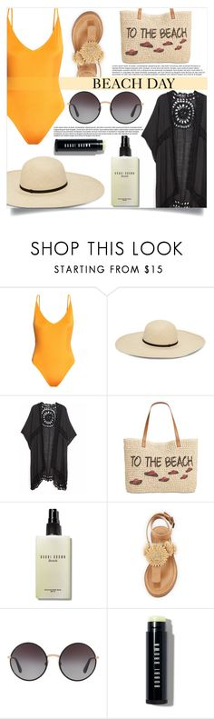 """""""Beach Day"""" by mistressofdarkness ❤ liked on Polyvore featuring H&M, Do Everything In Love, Style & Co., Bobbi Brown Cosmetics, Bettye and Dolce&Gabbana"""