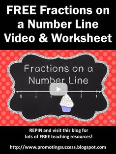 FREE Fractions on a Number Line 3rd Grade Video Tutorial Plus FREE Printable Worksheet & Answer Key