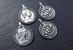 4 Australian Half Penny Replica Coin Charms 1961  Side Facing