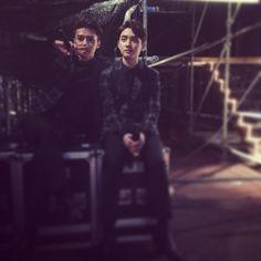 "Sehun and D.O. - ""#Vietnam""   150328 oohsehun Instagram Update"