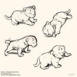 Daily Animal Sketch – Lion Cubs