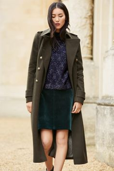 I m totally smitten with this Khaki Military Coat from  nextofficial. It  also dabca594c