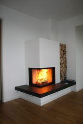fireplace by Masuch GmbH, tiled stove construction - .- kamin von Masuch GmbH, Kachelofenbau – fireplace by Masuch GmbH, tiled stove construction - Home Fireplace, Living Room With Fireplace, Fireplace Design, Living Room Decor, Fireplace Modern, Minimalist Fireplace, Corner Fireplaces, Fireplace Gallery, Tiled Fireplace