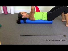 This video shows you how to use a foam roller to perform basic spine massage/mobilization which is helpful for minimizing back pain shoulder pain neck pain and is great for improving posture and relieving tense back muscles. For more information ch Back Muscles, Sore Muscles, Foam Roller Stretches, Melt Method, Back Pain Exercises, Stretching Exercises, Massage Benefits, Improve Posture, Back Pain Relief