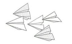 Paperplane spacer