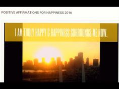POSITIVE Affirmations For HAPPINESS 💖💞💖