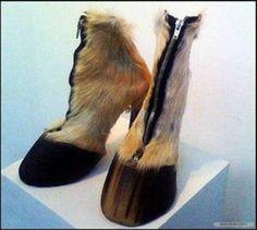 Deer hoof heels... fantastic or freaky? @Melissa Strebe these are for you!!