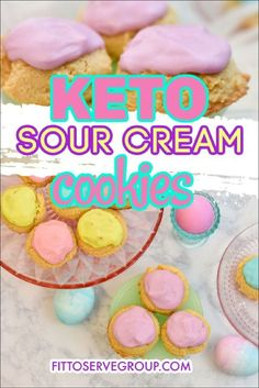 These keto sour cream cookies will remind you of the old fashion cookies you grew up on. McCall's sour cream cookie recipe has nothing on these keto cookies! Low carb cookies| keto cookies| low carb sour cream cookies High Protein Desserts, Low Carb Desserts, Low Carb Recipes, Sour Cream Icing, Sour Cream Cookies, Sugar Free Cookies, Keto Cookies, Gluten Free Cookies, Old Fashioned Sugar Cookies