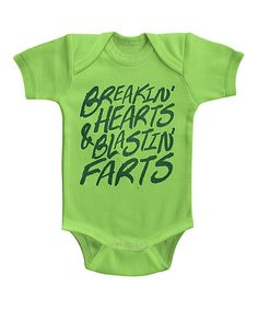 Take a look at this Urs Truly | Key Lime 'Breakin' Hearts & Blastin' Farts' Bodysuit - Infant today!