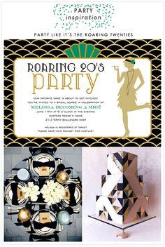 1920s Roaring Twenties Art Deco Gatsby Party