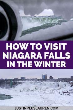 You need to visit Niagara Falls in the winter! It's a beautiful, magical, winter frozen wonderland. Seeing Niagara Falls frozen is so pretty, and there are so many other reasons to plan your wintery Niagara Falls getaway. Learn more about all the things to do in Niagara Falls in wintertime. Niagara Falls winter | Winter in Niagara Falls | Best things to do in Niagara Falls | What to see in Niagara Falls | Niagara Falls in December | Niagara Falls in January | Niagara Falls in February North America Destinations, North America Map, Winter Destinations, Travel Destinations, Usa Travel Guide, Travel Usa, Travel Guides, Travel Hacks, Budget Travel